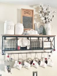 Home Decor Hobby Lobby Rustic Farmhouse Rae Dunn Coffee Bar With Hobby Lobby Shelf