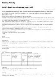 english teaching worksheets newspapers