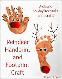house of burke reindeer handprint and footprint craft