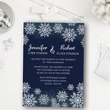 snowflake wedding invitations affordable navy blue snowflake winter wedding invitations ewi368