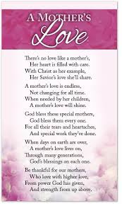 Mother Blessing Invitation Poetry Card U2013 A Mother U0027s Love U2013 Moments With The Book