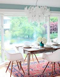 furniture lovely persian rug at dining room with reclaimed wood