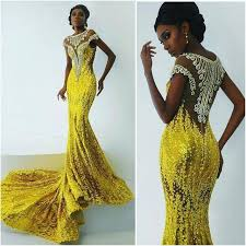 light yellow prom dresses bright yellow lace mermaid prom dresses for africa women 2016