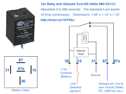 12v delayed turn off or turn off howto