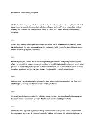 wedding quotes pdf emcee script for a wedding reception wedding