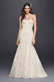 fishtail wedding dress lace mermaid fishtail wedding dresses david s bridal