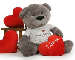 valentines day teddy bears 4ft personalized s day teddy diamond shags