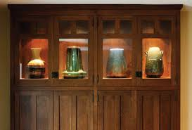 perfect kitchen for a pottery collector arts crafts homes and an end cabinet has lighted display space for special pieces of fulper pottery