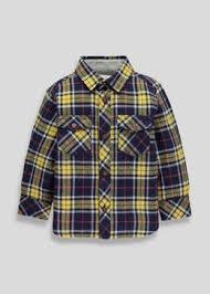 boys casual smart shirts check denim plain matalan