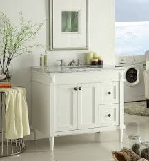 Vanities For Bathrooms by Adelina 36 Inch White Finish Bathroom Vanity Marble Counter Top