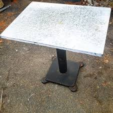 Zinc Top Bistro Table Zinc Top Table Cast Iron Base 24 X 32 Bistro Table Iron