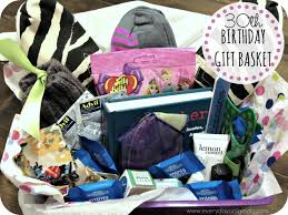 birthday gift baskets for women a 30th birthday gift basket
