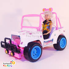 purple barbie jeep barbie convertible jeep buggy funtastic factory