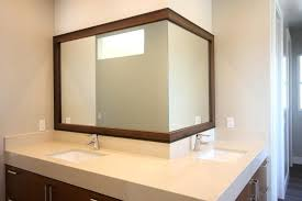 Trim For Mirrors In Bathroom Wood Trim Around Bathroom Mirror Master Bathroom Mirror Before