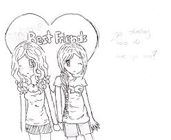 sketches for anime friendship sketches www sketchesxo com