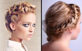 red low braided bun low bun hairstyles 2017
