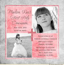 communion invitations for girl square photo communion invitations personalized holy text