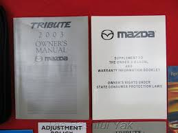 amazon com 2003 mazda tribute owners manual mazda car electronics