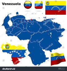 Venezuela World Map by Venezuela Vector Set Detailed Country Shape Stock Vector 53227126