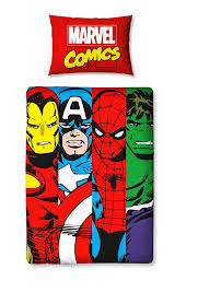 Marvel Double Duvet Cover Marvel Avengers Comics Duvet Quilt Cover Bedding Set For Junior