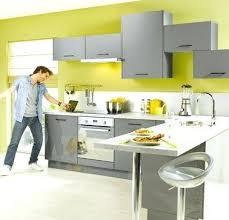cuisine jaune et grise deco pour cuisine grise decoration cuisine gris et jaune