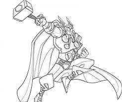 Get This Free Thor Coloring Pages To Print 39122 Thor Coloring Page