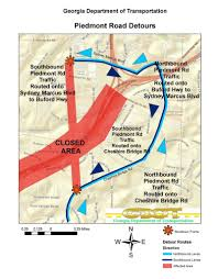 Indiana Road Conditions Map Atlanta I 85 Collapse Map Detours Road Closures Alternative Routes