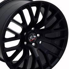 Satin Black Mustang Ford U0026 174 2015 Mustang Gt Style Replica Wheel Satin Black 19x10