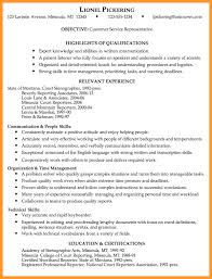 Resume Template For Customer Service Resume Template For Customer Service Representative Resume