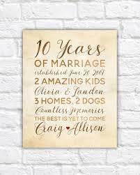ten year anniversary gifts 10 year anniversary gift wedding anniversary decor rustic