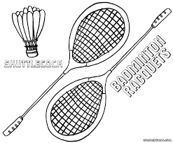 badminton coloring pages coloring pages to download and print