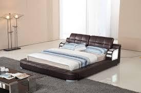 bl9062 modern leatherette bed w led light