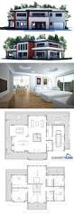 Modern Villa Floor Plan by 110 Best House Plan Images On Pinterest Architecture House