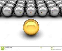 leadership concept gold and silver balls stock illustration