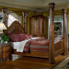 spanish hills leather canopy bed queen sam u0027s club