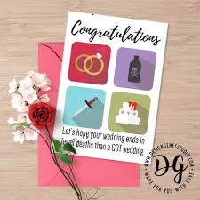Congratulations Wedding Card Funny Game Of Thrones Red Wedding Card U2013 Designgenes Studio