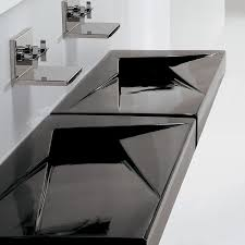 undermount bathroom trough sink modern contemporary white