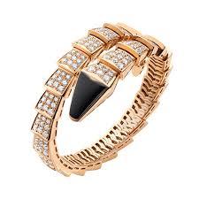 black bracelet pink images Best replica bvlgari serpenti bracelet pink gold black onyx with png