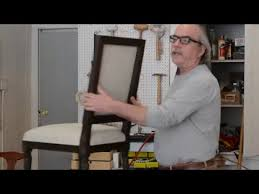 How To Upholster A Dining Chair Back How To Upholster Outside Back Of A Dining Room Chair Part 1