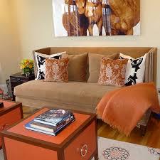 Orange Sofa Living Room Ideas Blue And Orange Sofa Design Ideas