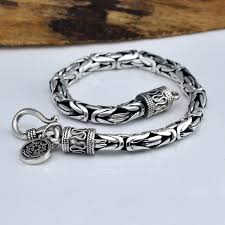 sterling bracelet images Buy real pure 925 sterling silver bracelet men jpg