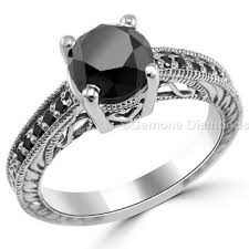 rings best price images Antique engagement rings with black diamonds at best price online jpg