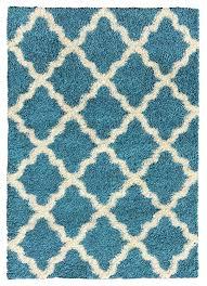 amazon com soft shag area rug 5x7 moroccan trellis turquoise blue