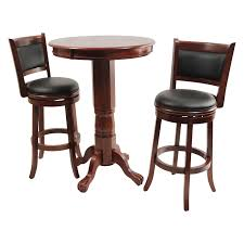 Single Bistro Chair Brown Lacquered Walnut Wood Bistro Table With Single Base And Claw