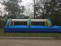 houston party rentals houston tx party rentals rainbow 30 slip n slide the firm