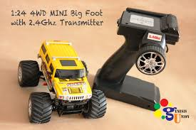 bigfoot 5 monster truck toy 1 24 hobby grade mini big foot off road hummer 4wd 2 4g rtr rc car