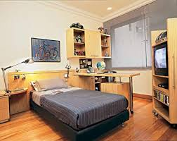 interior design bedroom study room for teenage using white desk