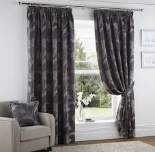Slate Grey Curtains Grey Pencil Pleat Curtains Also Floral Pattern Style And