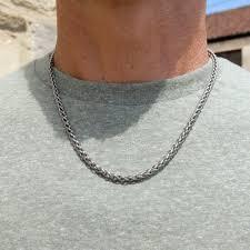 titanium link necklace images Wheat titanium chain ti2 titanium jpg