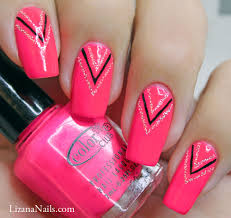 neon pink nail art how you can do it at home pictures designs